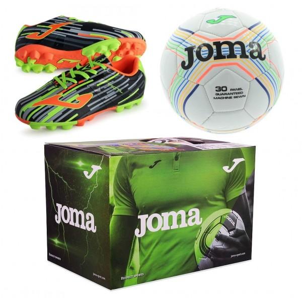 Zestaw Buty Joma Tactil JR 701 RUBBER + piłka rozmiar 3